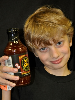 Kids love Hack's Barbecue Sauce on Pizza